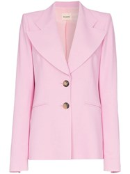 Khaite Alexis Single Breasted Blazer Pink