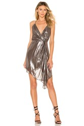 Cami Nyc The Tori Dress Metallic Silver