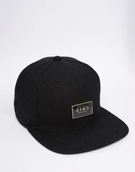 King Apparel Gold Seal Snapback Cap Black