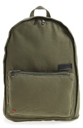 State Bags Park Slope Lorimer Water Resistant Canvas Backpack Green Olive