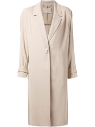 Jason Wu One Button Trench Coat Nude And Neutrals