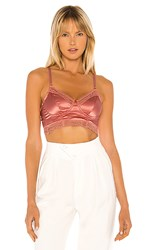 Cosabella Madeline Cropped Bustier In Pink. Soft Sunset