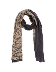 Paul And Joe Oblong Scarves Dark Brown