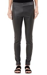 The Row Women's Leather Lenra Leggings Grey Dark Grey
