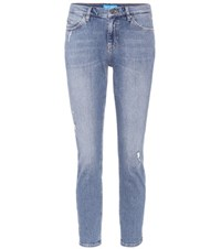 Mih Jeans Tomboy Mid Rise Cropped Blue