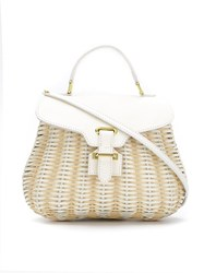 Serpui Straw Crossbody Bag White