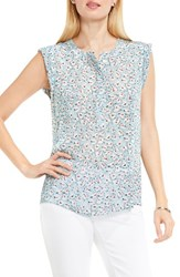 Vince Camuto Women's Two By Floral Sketches Henley Blouse
