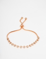 Love Rocks Diamante Rose Gold Chain Friendship Bracelet Rosegold