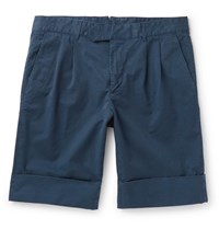 Boglioli Stretch Cotton Shorts Blue