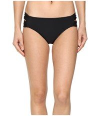 Athena Laurel Double Side Tab Pants Black Women's Swimwear