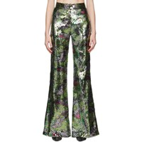 Halpern Mutlicolor Sequin Stovepipe Trousers