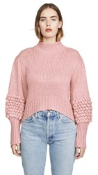 C Meo Collective Hold Tight Knit Sweater Pink