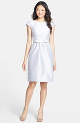 Alfred Sung Women's Woven Fit And Flare Dress Dove