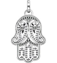Thomas Sabo Hand Of Fatima Sterling Silver And Zirconia Pendant