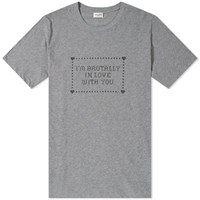 Saint Laurent I'm Brutally In Love With You Tee Grey