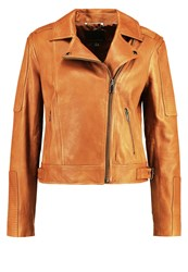 Banana Republic Leather Jacket Light Brown