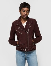 Veda Jayne Suede Jacket Dark Raisin
