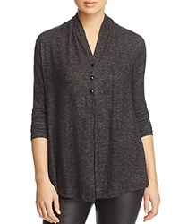 B Collection By Bobeau Betie Heathered Cardigan Charcoal Grey