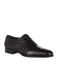 Stefano Ricci Crocodile Oxford Shoes Male Black