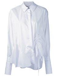 Preen By Thornton Bregazzi Drawstring Detail Shirt White