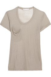 Kain Label Modal And Silk Blend T Shirt Nude