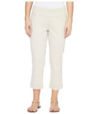 Jag Jeans Petite Marion Pull On Crop In Bay Twill Stone Women's Casual Pants White