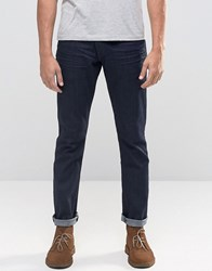 Wrangler Larston Slim Tapered Jeans In Rinse Wash Rinse Broke Navy