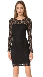 Ali And Jay Long Sleeve Stretch Lace Dress Black