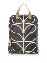 Orla Kiely Backpack Tote Black