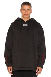 Off White Cut Hoodie Black