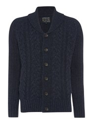 Howick Hunesdale Cable Cardigan Navy