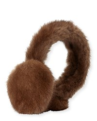Surell Mink Fur Earmuffs Brown