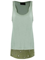 Andrea Bogosian Scoop Neck Tank Top Green