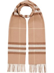 Burberry The Classic Check Cashmere Scarf Mid Camel