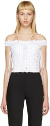 Dolce And Gabbana White Bustier Top