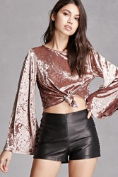Forever 21 Crushed Velvet Crop Top