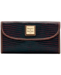 Dooney And Bourke Lizard Embossed Continental Wallet A Macy's Exclusive Style Bordeaux