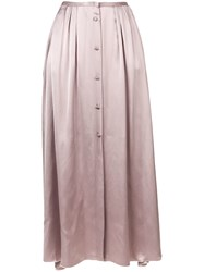 Forte Forte Front Button Maxi Skirt Purple