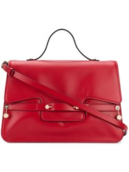 Red Valentino Square Design Tote Bag Red