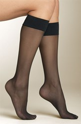 Women's Spanx Sheer Knee Highs Black 2 Pack