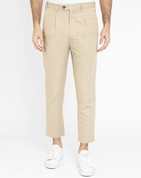 Minimum Beige Ragnar Tapered Front Pleated Chinos