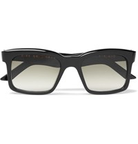 Kirk Originals Burton Square Frame Acetate Sunglasses Black
