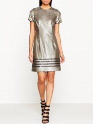 Tommy Hilfiger Gigi Sequin T Shirt Dress Gold