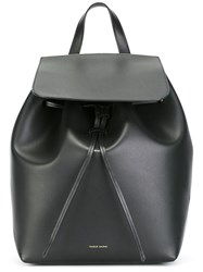 Mansur Gavriel Large Flap Backpack Black
