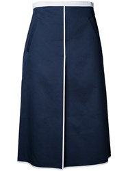 Thom Browne A Line Front Vent Skirt Blue