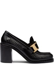 Prada Woven High Heeled Loafers 60