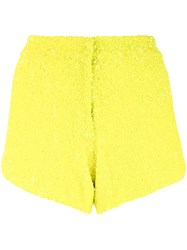 Manish Arora Sequinned Shorts Women Nylon Polyester 34 Yellow Orange