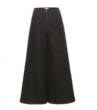 Rosie Assoulin Wide Leg Wool Trousers Black