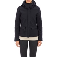 Post Card Hooded Caitlin Jacket Nero Blk W Wht Triim