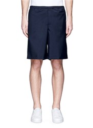 Acne Studios 'Ari' Wool Mohair Shorts Blue